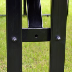 Steel frame detail
