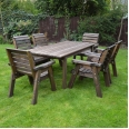 Barrowden Dining Set - 240cm - Rectangular with 6 chairs