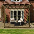 Wall Mounted Pergola and Decking Kit - 3m x 3m - 2 Posts