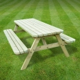 Oakham rounded picnic bench - 7ft
