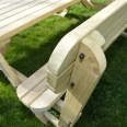 Lyddington Rounded Picnic Bench - 6ft