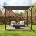 Wooden Pergola and Decking Kit - 2.4m x 2.4m - 4 Posts