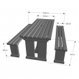 Tinwell Picnic Table And Bench Set