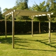 Garden Pergola 2.4m x 2.4m - Sculpted Rafter End - 4 Posts