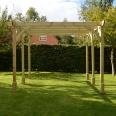 Premium Pergola - 4.8m x 4.8m - 6 Post - Light Green