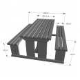 Tinwell Steel Picnic Bench