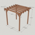 Garden Pergola - Sculpted Rafter End - 4 Post