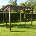 Garden Pergola - Sculpted Rafter End - 6 Post