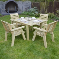 Barrowden Dining Set - 130cm - Rectangular with 4 chairs
