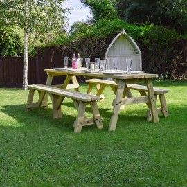 Oakham Rounded Picnic Table And Bench Set