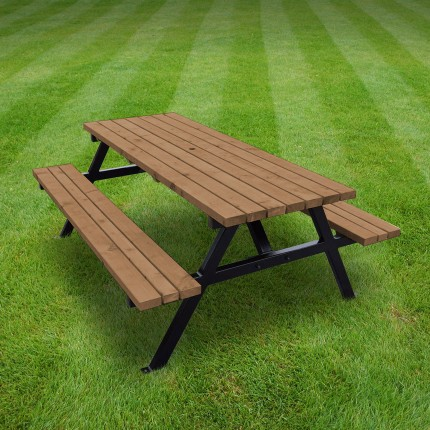 Oakham steel picnic bench - 8ft