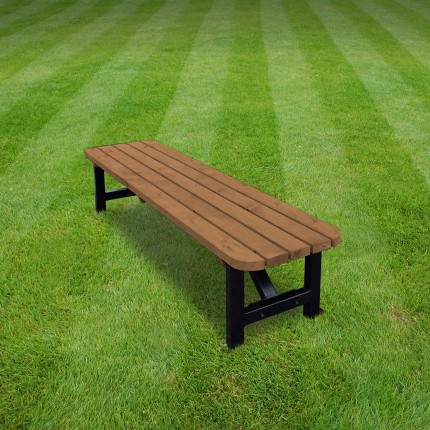 Ketton steel rounded bench - 8ft