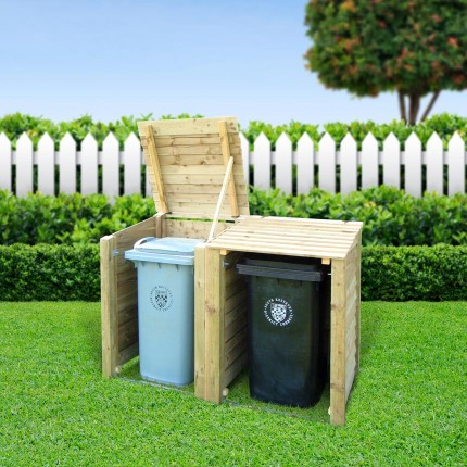 Morcott double wheelie bin storage unit