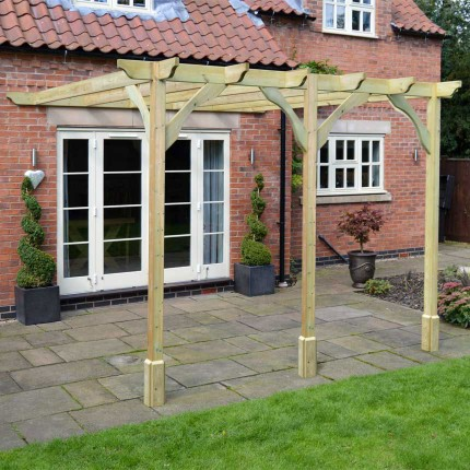 Premium Lean to Pergola - 3 Post
