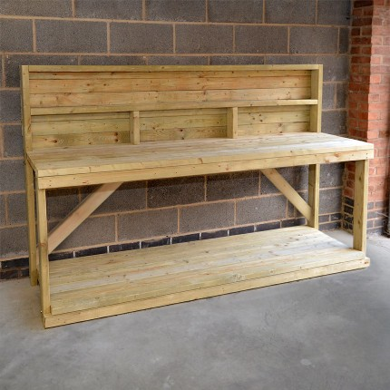 Work Bench with back panel - 7ft