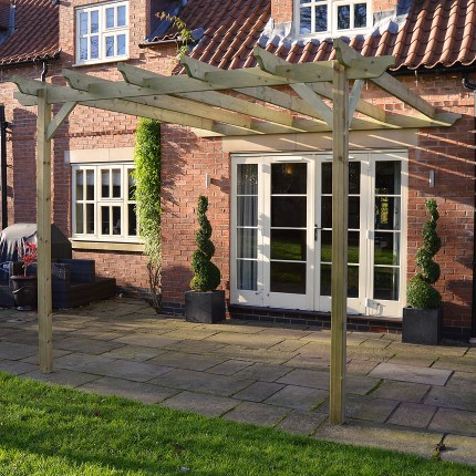 Lean to Garden Pergola - 2 Post