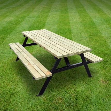 Oakham steel picnic bench - 7ft