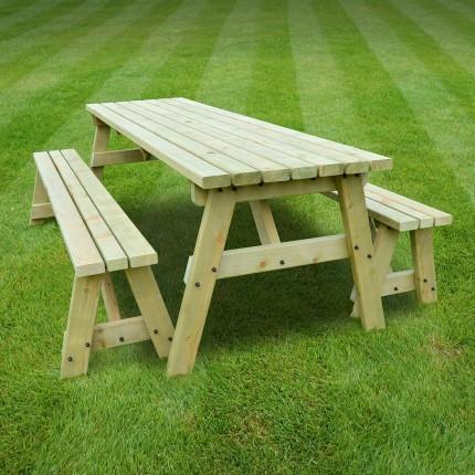 Oakham picnic table and bench set - 3ft & Oakham picnic table and bench set - 3ft - Rutland County Garden ...