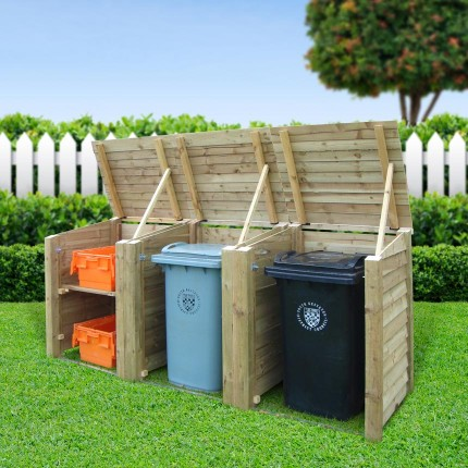 Morcott triple combo bin storage unit