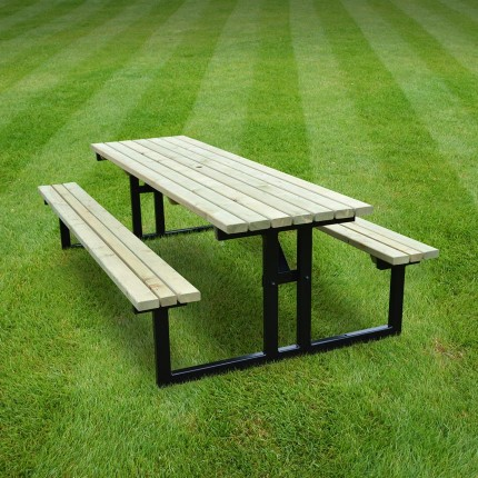 Tinwell steel picnic bench - 7ft