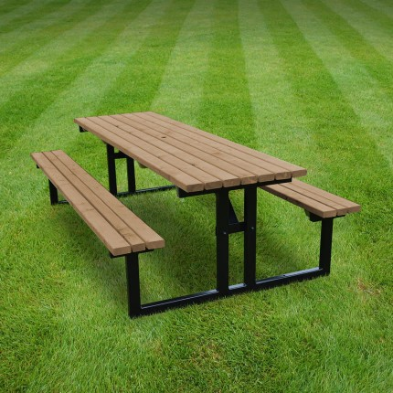 Tinwell steel picnic bench - 8ft