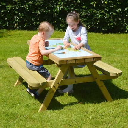 Oakham Game Top Picnic Table 4ft