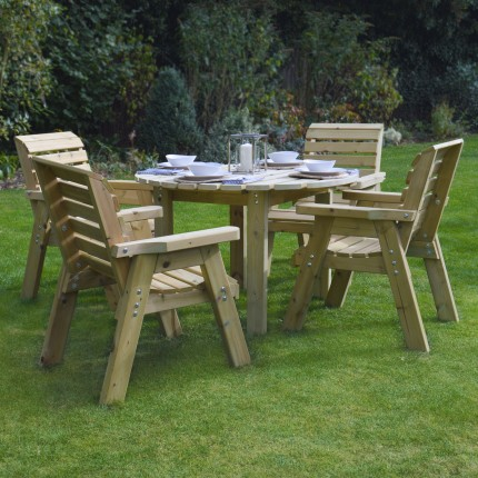 Barrowden Dining Set - 150cm - Circular with 4 chairs