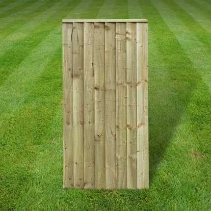 Featherboard capped gate - 6ft