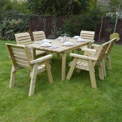 Barrowden Dining Set - 200cm - Rectangular with 6 chairs