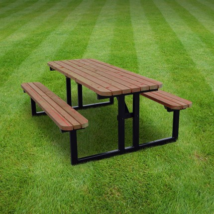 Tinwell steel rounded picnic bench - 7ft