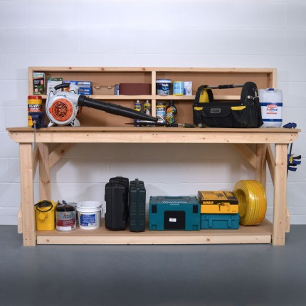 MDF Wooden Work Bench With Back Panel