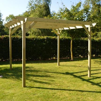 Garden Pergola 2 4m X 2 4m Sculpted Rafter End Rutland