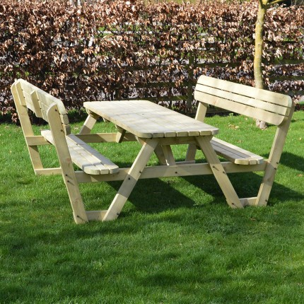 Lyddington Rounded Picnic Bench 4ft - 8ft