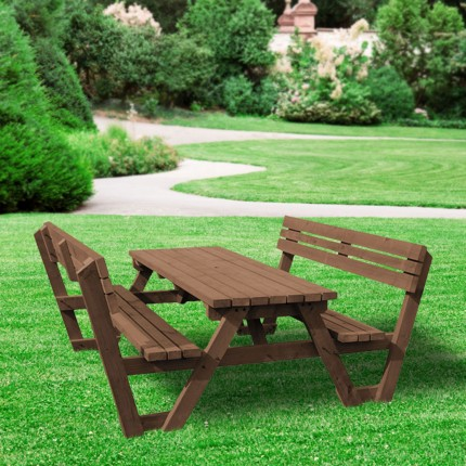 Lyddington picnic bench - 8ft