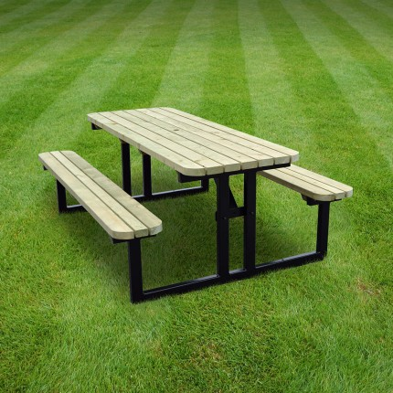 Tinwell steel rounded picnic bench - 8ft