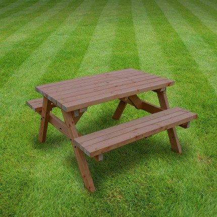 Oakham picnic bench   4ft. oakham picnic bench 4ft   Rutland County Garden Furniture