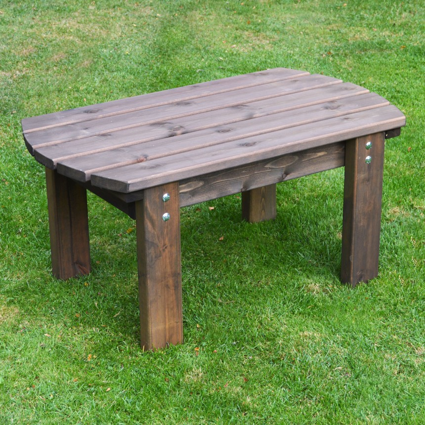 Details About Barrowden Outdoor Wooden Garden Coffee Tablepatio Furniture Curved 90cm