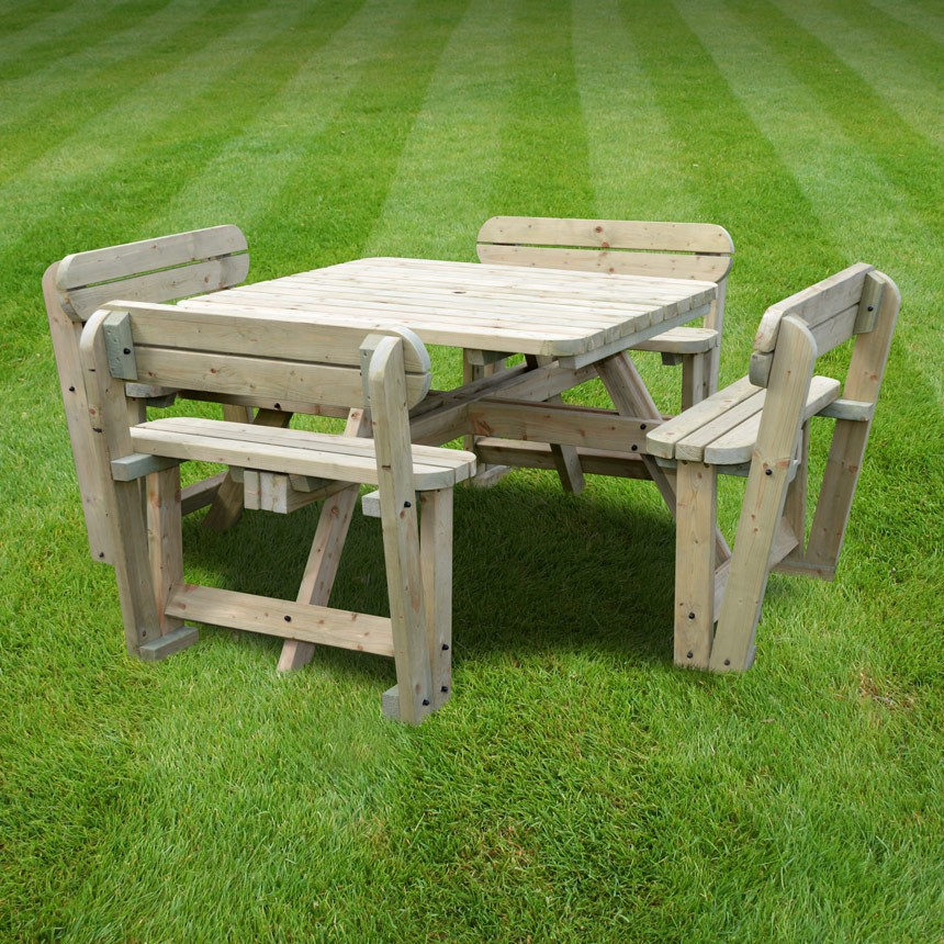 Picnic Tables Wooden Picnic Benches Rutland County Garden Furniture - Timber picnic table